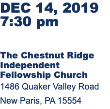 DEC 14, 2019 7:30 pm